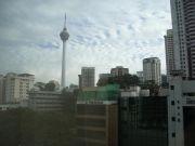 The Kuala Lumpur skyline from my hotel window.