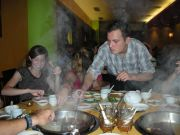 Rea cooking at the Hot Pot restaurant
