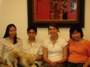 Doris (a UNC alum), her family, and me